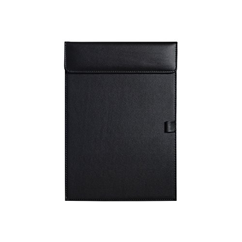 MyLifeUNIT Business Letter Size Leather clipboard Office Hotel Writing Pad (Black) (Padded Clipboard)