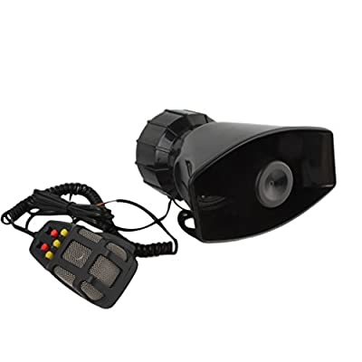 ePathChina 100W 7 Tone Sound Car Siren Emergency Sounds Vehicle Horn With Mic PA Speaker System Emergency Sound Amplifier - Hooter/Ambulance/Siren/Traffic Sound