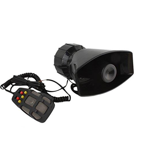 100 Watt Car Speaker (100W 7 Tone Sound Car Siren Emergency Sounds Vehicle Horn With Mic PA Speaker System Emergency Sound Amplifier - Hooter/ Ambulance/ Siren/Traffic Sound)