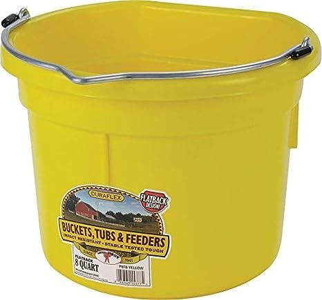 Amazon LITTLE GIANT Flat Back Dura Flex Plastic Bucket 8 Quart