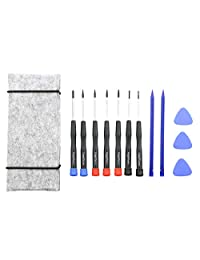 11 Pcs MacBook Reparación Kit de herramientas destornilladores de precisión,, apertura Pick, Spudger y bolsa portaherramientas para MacBook Air, Retina, Pro