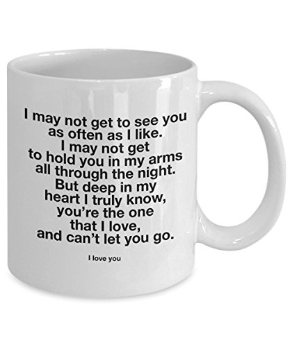 Long Distance Relationship Mug - I love You Mug - For Him and For Her, LDR Birthday Lovers Penpal Romantic valentines Boyfriend Girlfriend GF BF Cup Gifts Idea (Best Birthday Surprise For Boyfriend Long Distance)