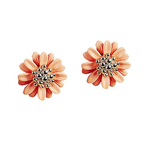 usstore-1pair-womens-elegant-daisy-flower-cute-ear-stud-earrings-jewelry-orange