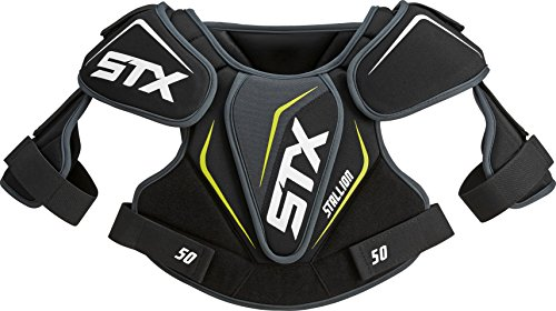 STX Lacrosse Stallion 50 Youth Shoulder Pad, Black, Large