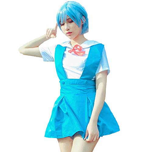 Nuoqi Evangelion EVA Rei Ayanami Asuka Langley Soryu School Uniform Cosplay Costume Blue
