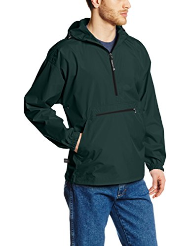 Charles River Apparel Pack-N-Go Wind & Water-Resistant Pullover (Reg/Ext Sizes), Forest, 3XL - Green Mens Pullover
