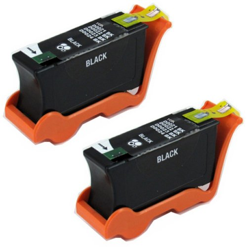 Amsahr U313R Compatible Replacement Dell Ink Cartridges for Select Printers/Faxes - 2 Pack, Black (Ink Dell Select)