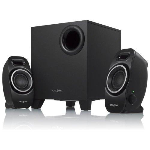 Creative A250 2,1 Lautsprecher-system (Ein/Aus -Schalter, Dual Slot Enclosure) schwarz