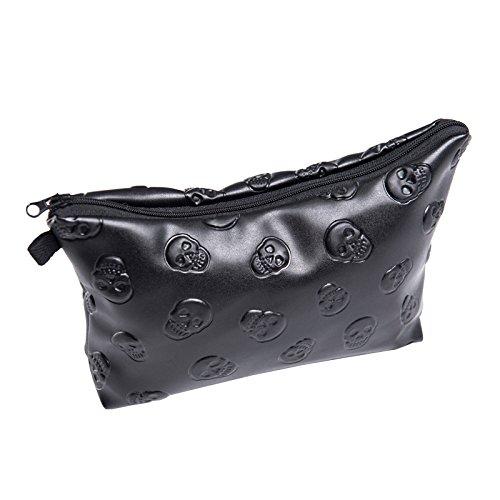 Fashion Black Skull Cosmetic Bag Makeup Storage Bag Toiletry Organizer Pencil Case Handbag  sc 1 st  Amazon.com & Amazon.com: Fashion Black Skull Cosmetic Bag Makeup Storage Bag ...
