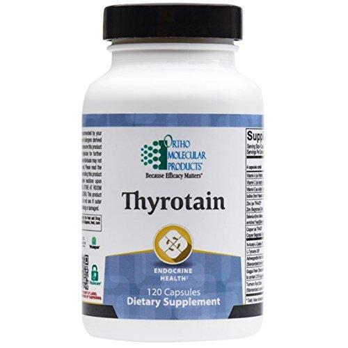 Ortho Molecular Thyrotain 120 Capsules - Endocrine Health