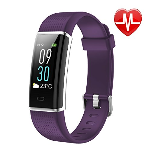 LETSCOM Fitness Tracker, Heart Rate Monitor Watch with Color Screen, IP68 Waterproof, Step Counter, Calorie Counter, Sleep Monitor, Pedometer, Smart Watch for Kids Women and ()