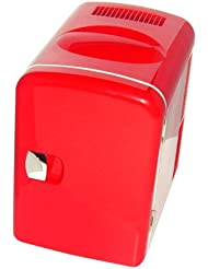 RED MINI FRIDGE COOLER WARMER FOR CAR, OFFICE, HOME