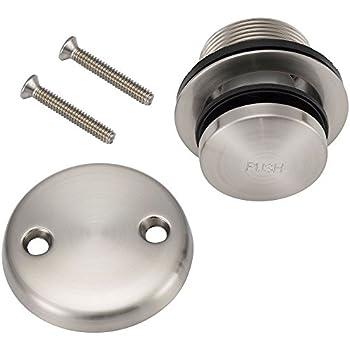 Designers Impressions 615595 Satin Nickel Toe Tap Drain Overflow Conversion Trim Kit