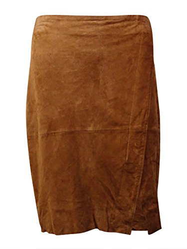 RALPH LAUREN Lauren Women's Goat Suede Envelope Skirt (8, Moccasin) (Goat Suede)