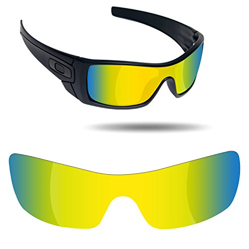 Fiskr Anti-Saltwater Replacement Lenses for Oakley Batwolf Sunglasses - Various Colors (Best Lens Color For Fishing)