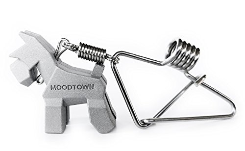 (MOODTOWN Handcrafted Stainless Steel Dog Key Chain (Schnauzer) - Available in 15 Different Breeds )
