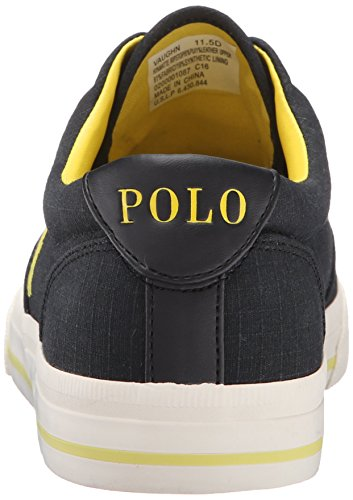 Ralph Lauren Mens Vaughn Matte Ripstop Cotton Trainers Black