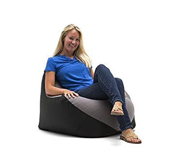 Big Joe 1180285 Warp Bean Bag Black Dark Grey