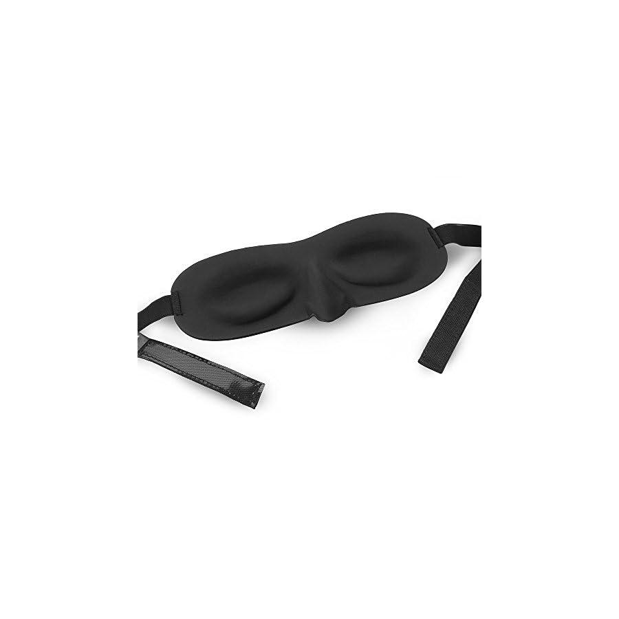 Sleeping Eye Mask, Joly Joy® Super smooth Adjustable Eye Mask with Earplugs for Travel, Shift Work, Meditation