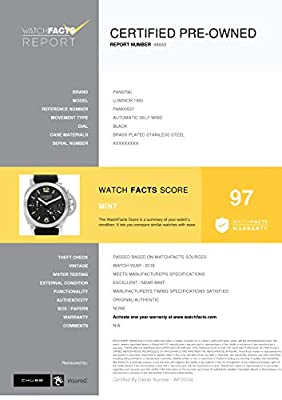 Panerai Luminor 1950 Automatic-self-Wind Male Watch PAM00537 (Certified Pre-Owned) by Panerai