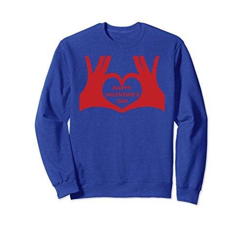 Unisex Happy Valentine's Day Valentines Day Gift Present Sweatshirt XL: Royal Blue