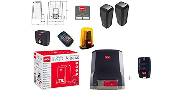 BFT Promo Deimos Ultra BT Kit A600 Motoriductor de puertas correderas 24 V hasta 600 kg Peso Tecnología D-Track R925268 00002: Amazon.es: Bricolaje y herramientas