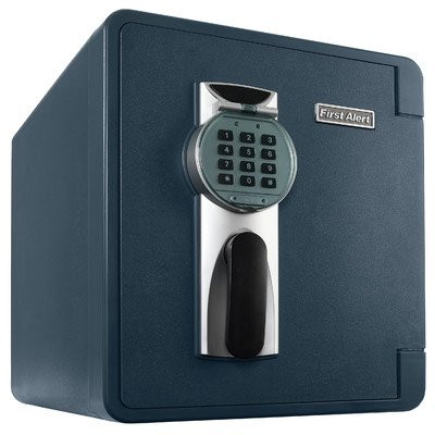 First Alert 2087DF 1637 Cubic Inches Waterproof Fire Resistant Digital Safe, Slate