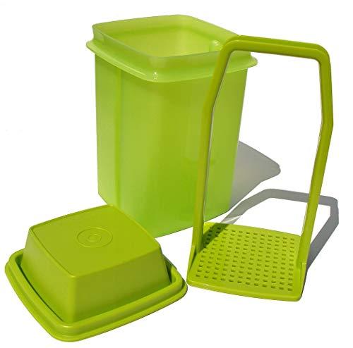 - Tupperware Pick-a-deli Pickle Keeper 3-piece Container, Avocado Green, Small