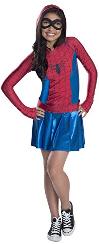 Woman Spider Girl Costume (Rubies Marvel Classic Child's Spider-Girl Hoodie Costume Dress, X-Large)