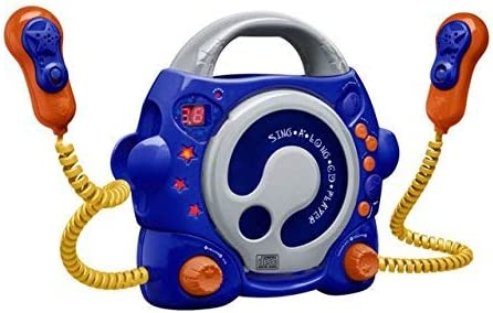 Big Ben, Portable CD Player with 2 Microphones (Blue)