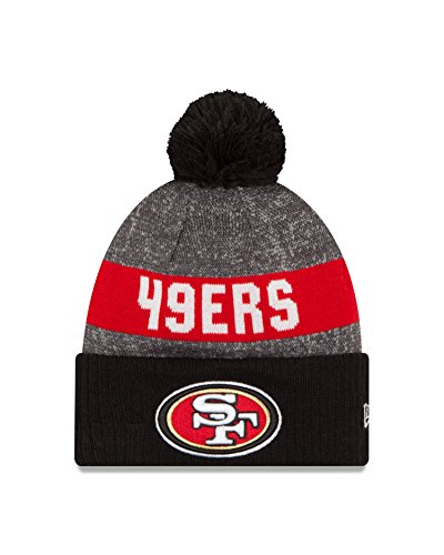 [NFL San Francisco 49ers 2016 Reverse Team Color Sport Knit Beanie, One Size, Black/Gray] (Team Knit Hat)