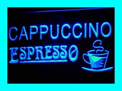 Cappuccino Led Sign (Cappuccino Espresso Coffee Cafe LED Sign Neon Light Sign Display i317-b(c))