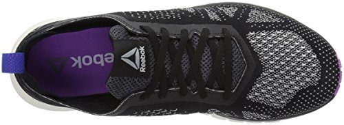 Reebok Women's Print Smooth Clip Ultk Track Shoe, black/chalk/vicious violet/vital blue, 10 M US by Reebok (Image #8)