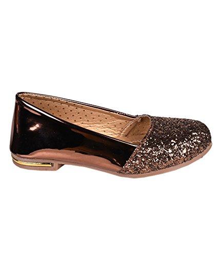 fd6e806a7 Trilokani Good Premium Quality Daily Party Wear Trendy Stylish Comfortable  Copper Glitter Work Cinerella Bellies Belly