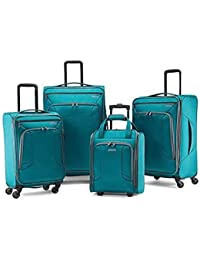 4 Kix Expandable Softside Luggage with Spinner Wheels, Teal, 4-Piece Set (RT/21/25/28)