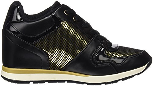 GUESS Fllc23 Ele12, Zapatillas Para Mujer Negro (BLACK)