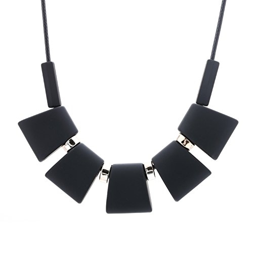 Women Necklace Statement Necklaces & Pendants Colorful Wood Beads Necklace for Women Jewelry SP003 Black for $<!--$15.99-->
