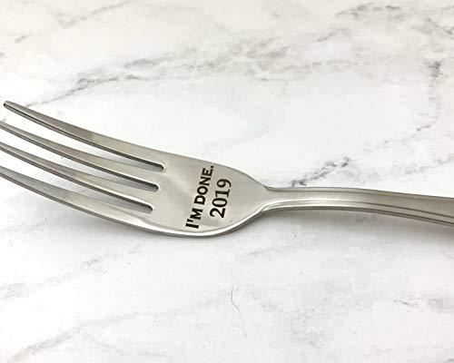 Retirement Fork, I'm Done Fork, Custom Stainless Steel Fork, Teacher retirement, Graduation gift, Engraved fork, customized fork