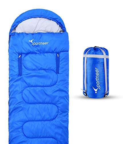 Sportneer Sleeping Bag Portable Single Sleeping Bag with Zippered Holes for Arms and Feet, 32 Degree - http://coolthings.us