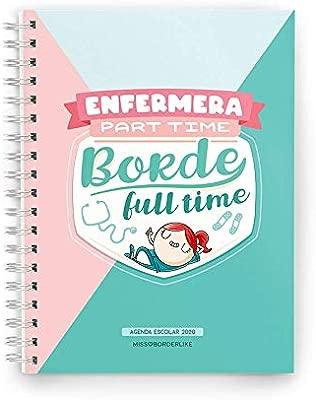 Missborderlike - Agenda escolar 2019-2020 - Enfermera part time borde full time