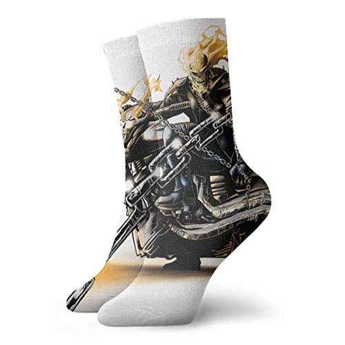 WEEDKEYCAT Ghost Rider Adult Short Socks Cotton Fun Socks for Mens Womens Yoga Hiking Cycling Running Soccer Sports ()