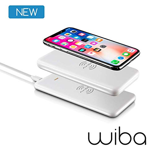 Avido WiBa 100% Wireless Power Bank Portable Charger 5000mAh Magnetic & 2-in-1 Dual Stackable 10W Fast Charging Pad Compatible with iPhone Xs, XS Max, XR, X, 8, Samsung S9, S8, Note 9, 8, Qi Devices