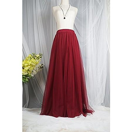 WDDBSQ Falda De Tul/Malla/Fiesta/Banquete/Fiesta/Vestido/Rosa ...