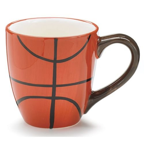 Ceramic 13 Oz Basketball Coffee Mug Great Gift for Basketball Sport Fans