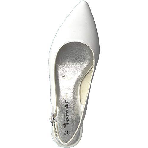 Con touch con Caviglia Tacco Alla 1 Cinturino 22 29617 comfort Scarpe pelle 1 slingback it Donna Tamaris Col White Tacco sandali Caviglia scarpe R4fw8qFg