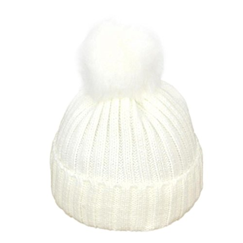 Sombrero de bebé,Tongshi Niño niña de punto sombrero suave encantadora de los Blanco