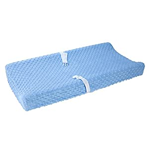 Carter's Changing Pad Cover, Solid Light Blue, One Size