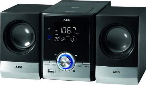 AEG MC 4461BT Top Loading CD Player with Bluetooth and MP3 - Black