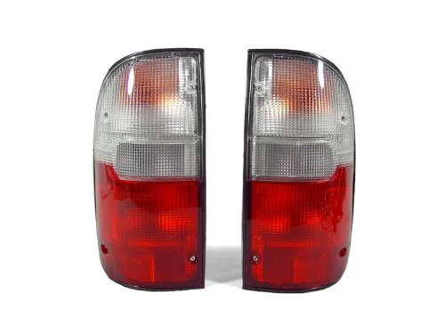 DEPO 1995-2000 Toyota Tacoma Pick Up 2wd/4wd Model Red/Clear Tail Light -