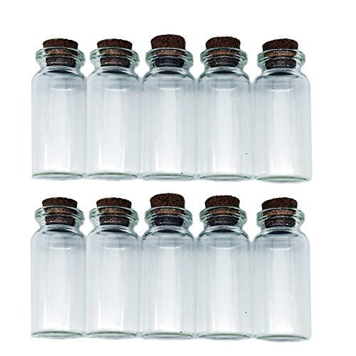 (Potelin Wishing bottle drifting bottle Mini Tiny Empty Clear Glass)